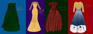 A Christmas Jubilation - 2nd Act dresses by xXLionqueenXx