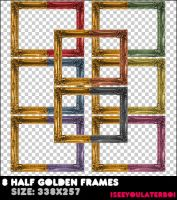 8 Half Colorful Frames by Iseeyoulaterboi