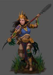TALOC: Female mayan warrior by GraphicGeek