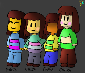Frisk, Chisk, Frara and Chara by YasminCarvanha