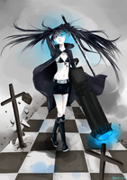 Black Rock Shooter (COMMISSIONED) by pupurutier