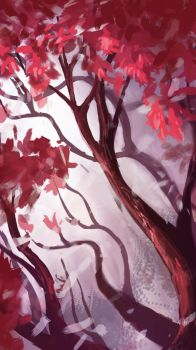 Red Tree by LKivihall