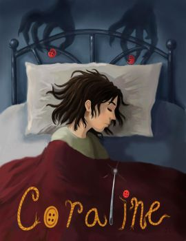Coraline-Book Cover Assignment by ysik