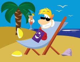 Relaxed Rayman by gemstonelover49