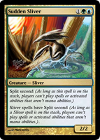 Custom Magic Card Sudden Sliver by lizking10152011