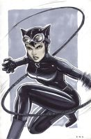 Catwoman marker sketch by Protokitty