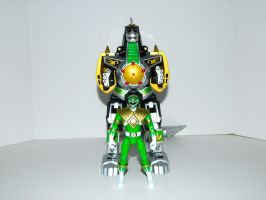 Green Ranger and Dragonzord by LinearRanger
