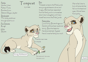 Tempest's Character Chart 2012 by Kainaa
