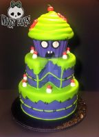 Zombie Sweets Cake by Corpse-Queen