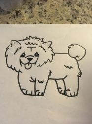 Cartoon version of a Chow  by VenomROBLOX