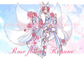 [CLOSED] Rose flower Kitsune by Valyriana
