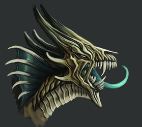 Exciting dragon profile by Ginboa