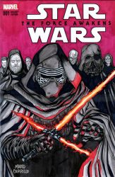Kylo Ren sketch cover on sale by mdavidct