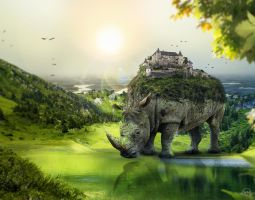 Create a Surreal Rhino by 35-Elissandro
