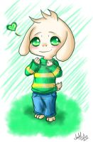 Chibi Asriel - Day 26 by SakuraFaith