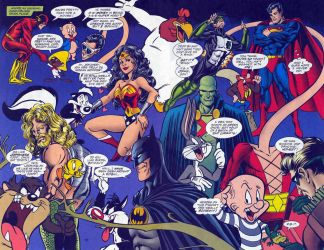 Looney Tunes meets Justice League by polskienagrania1990