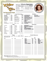 Willow Character Sheet by WebWarlock