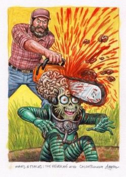 FOR SALE: Mars Attacks The Revenge #46 Color Rough by DeJarnette
