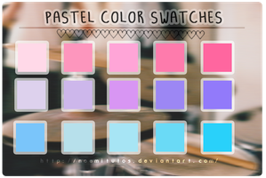Pastel Color Swatches by NoemiTutos