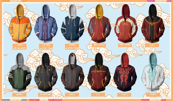 Avatar Hoodies! [Last Airbender/Legend of Korra] by prathik