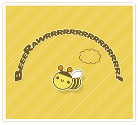 Kawaii Bee Wallpaper by JoMajik