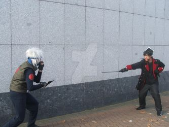 Eirtakon Kakashi Vs Random Anbu Person by LilNekoKatz