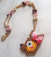 Deer Perler Bead Necklace by Cuddlebugeeshi