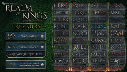 Realm of Kings Layer Styles -BUNDLE- by Xiox231