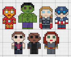 Mini Avengers Pattern by lpanne