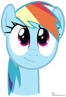 Cute Rainbow Dash Face Vector by caffeinejunkie
