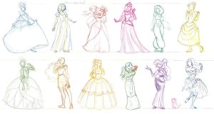 Disney Princesses and Whatnot by JeannieHarmon