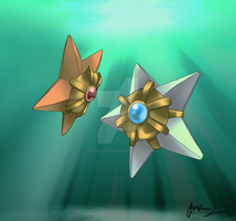 The Shining Star of the Sea: Staryu by VortexOfSaturn
