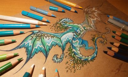 Dragon of a spring forest [ WIP ] by AlviaAlcedo