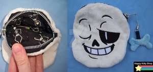 Sans Coin Purse by HappyKittyPlushies