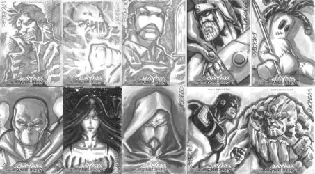 Bayan Knights sketch cards batch 2 by daverge