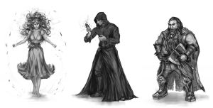 Characters - A Threat of Shadows by h1fey
