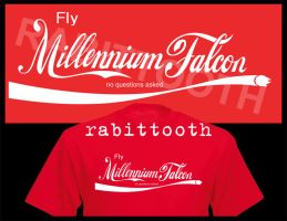 Falcon Cola Tee Shirt Design by Rabittooth