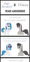 Vinyl Scratch and Octavia Trade Accessories by velocimaidfoxicorn