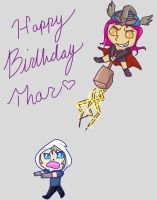 Happy Birthday Thor! by Lunaoverthecow