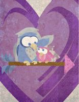 Valentines Day Owl Card by phantomonex