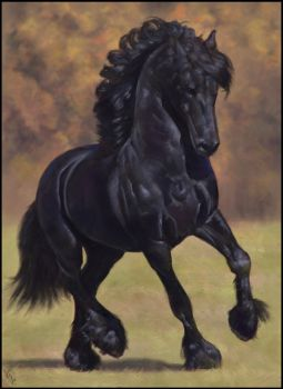 Horsey Painting 13 Day #307 by AngelGanev