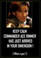 Keep Calm - Red Dwarf's Ace Rimmer by DoctorWhoOne
