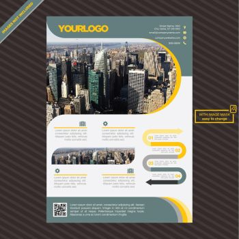 Brochure template design Free Vector by coddih