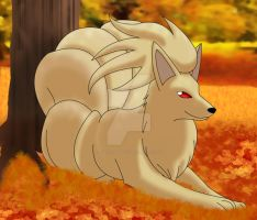 Ninetales by The-Cro55-FoX