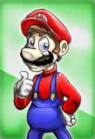 Mario Speedpaint by JRTribe