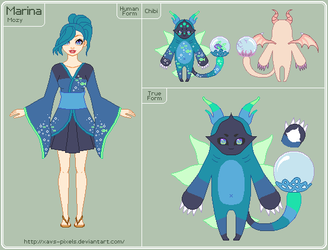 Mozy - Marina Reference Sheet - WIP by xavs-pixels