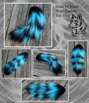 16 inch Yarn Tail - Toxic Ice Bomb SOLD! by Black-Heart-Always