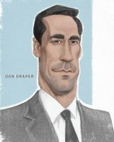 Don Draper by infernovball