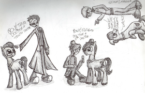 Doctor Whooves meets Doctor Who by InsanelyADD