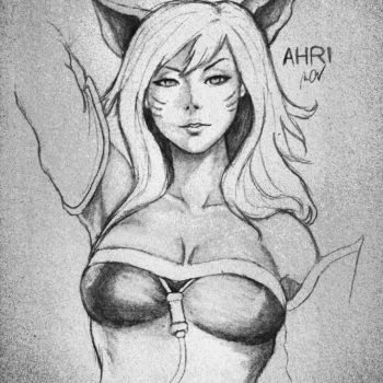 Ahri, League of Legends by mazziiCHUA